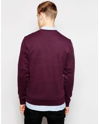 Lyle & Scott - Purple Sweatshirt With Crew Neck for Men - Lyst