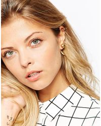 ASOS | Metallic Bead Through Stud Earrings | Lyst