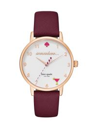 kate spade new york | Purple 5 O'clock Metro Watch | Lyst