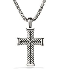 David Yurman | Metallic Chevron Cross On Chain 26 for Men | Lyst
