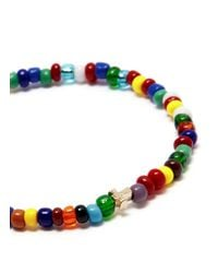 Luis Morais - Multicolor Cross Charm Multicolour Bead Bracelet for Men - Lyst