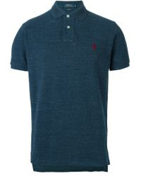 Polo Ralph Lauren - Blue Short Sleeve Polo Shirt for Men - Lyst