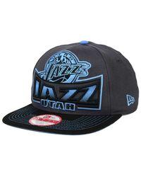 sale retailer 954e7 eff05 Lyst - KTZ Utah Jazz Grader 9fifty Snapback Cap in Blue for Men