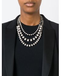 Lanvin   White Pearl Necklace   Lyst