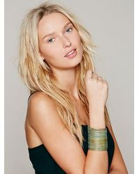 Free People | Blue Sculptor Cuff | Lyst