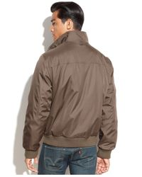 Calvin Klein | Brown Big & Tall Full-zip Ripstop Bomber Jacket for Men | Lyst