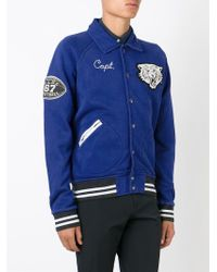 Polo Ralph Lauren - Blue Embroidered Varsity Jacket for Men - Lyst