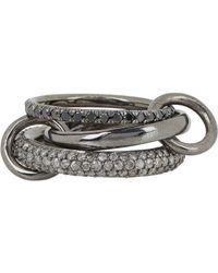 Spinelli Kilcollin   Metallic Solaris Gris Pave Noir Ring   Lyst