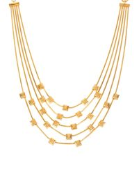 Diane von Furstenberg - Metallic Five-row Cube Station Necklace - Lyst