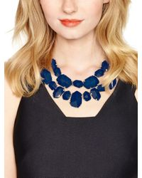 Kate Spade | Blue Quarry Gems Statement Necklace | Lyst