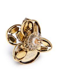 Erickson Beamon | Multicolor 'sound Garden' Oversize Crystal Flower Earrings | Lyst