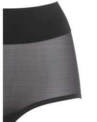 Wolford - Black Sheer Touch Control Brief - Lyst