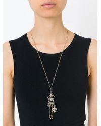 Servane Gaxotte | Metallic Rabbit Doll Pendant Necklace | Lyst