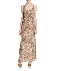 For Love & Lemons - Brown Midnight Circle Back Maxi Dress - Lyst
