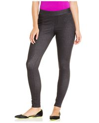 Hue | Gray Curvy Fit Jeans Leggings | Lyst