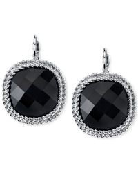 2028 | Silver-Tone Jet Black Large Faceted Drop Earrings | Lyst