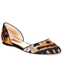 INC International Concepts - Orange Women's Crescente Two-piece Flats - Lyst