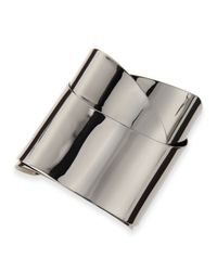 Alexis Bittar | Metallic Ruthenium Metal Geometric Ribbon Cuff | Lyst