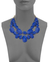 kate spade new york - Blue Quarry Gems Double-strand Necklace - Lyst