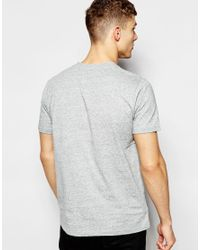 Fred Perry | Gray T-shirt With V Neck In Vintage Steel Marl for Men | Lyst
