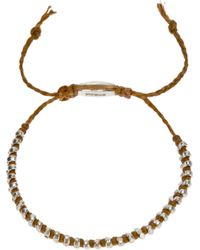 Paul Smith - Brown Bead Bracelet for Men - Lyst