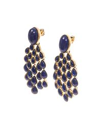 Aurelie Bidermann - Blue 'Cherokee' Earrings - Lyst