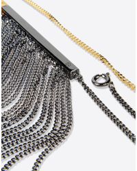 MM6 by Maison Martin Margiela | Metallic Chain Fringe Necklace | Lyst