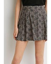 Forever 21 | Black Pleated Mosaic Print Skirt | Lyst