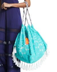 6 Shore Road By Pooja - Blue Sunset Crochet Beach Bag - Lyst