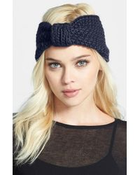 Tasha - Blue Chunky Knit Head Wrap - Lyst