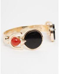 ASOS - Metallic Statement Farrah Open Cuff Bracelet - Lyst