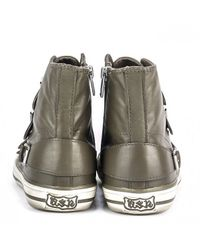 Ash - Gray Virgin Leather Buckle Trainers - Lyst