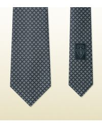 Gucci | Gray Patterned Silk Tie for Men | Lyst