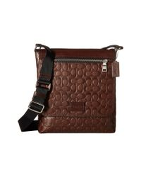 COACH | Brown Signature Sport Calf Sullivan Sm Messenger for Men | Lyst