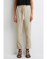 Forever 21 | Natural Linen-blend Capri Pants | Lyst
