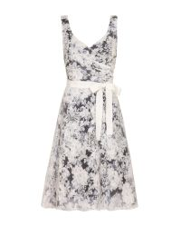 Almost Famous - Gray Floral Occasion Dress - Lyst