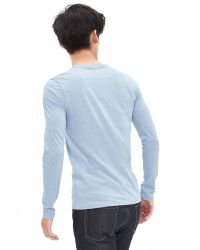 Banana Republic | Blue Soft-wash Long-sleeve Crew for Men | Lyst