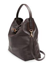 Gucci - Brown Hip Bamboo Leather Shoulder Bag - Lyst
