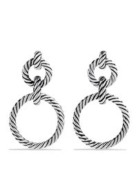 David Yurman - Metallic Cable Classics Doorknocker Earrings With Gold - Lyst
