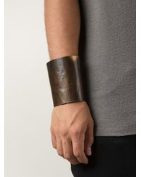 Cedric Jacquemyn - Brown 'tsachilla' Cuff for Men - Lyst