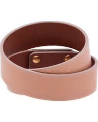 Givenchy | Natural Clay Pink Leather Shark Lock Bracelet | Lyst