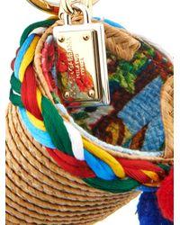 Dolce & Gabbana - Multicolor Raffia Basket Bag Charm - Lyst