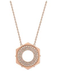 Swarovski | Pink Bolt Crystal Pendant Necklace | Lyst