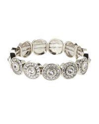 Natasha Couture   Metallic Silver-Tone Round Stretch Bracelet   Lyst