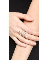 Eddie Borgo - Cross Section Ring - Blue Agate - Lyst