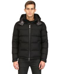 Moncler | Black Montgenevre Light Flannel Down Jacket | Lyst