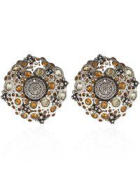 Stephen Dweck - Metallic Silver Citrine And Diamond Clip-on Earrings - Lyst