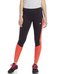 New Balance | Black Accelerate Performance Leggings | Lyst