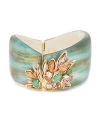 Alexis Bittar | Green Desert Jasmine Asymmetrical Hinged Bracelet | Lyst
