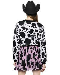 Maria Escoté - Multicolor Cow & Heart Printed Cotton Sweatshirt - Lyst